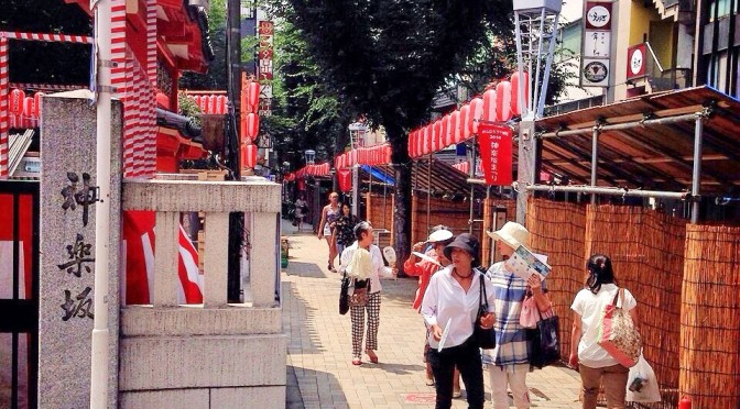 華やぎをます神楽坂の夏祭り