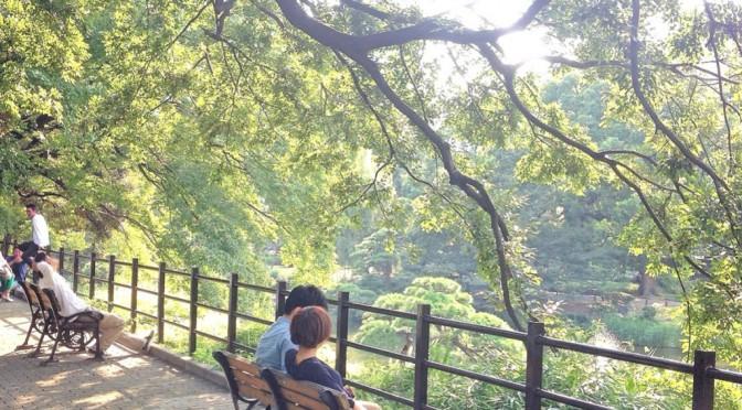 涼しい風が吹く都会の森、日比谷公園を散歩