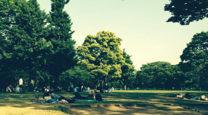 北の丸公園周辺をランニングして公園でのんびり日光浴