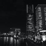 夜景がきれいな横浜を散歩