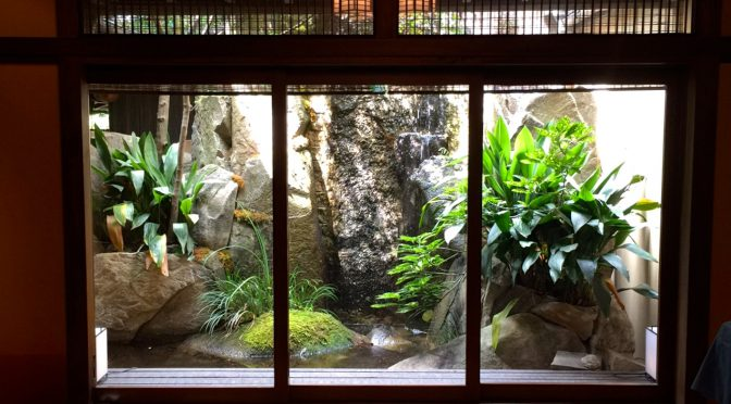 名古屋の老舗料亭、河文さんでゆったりランチタイム
